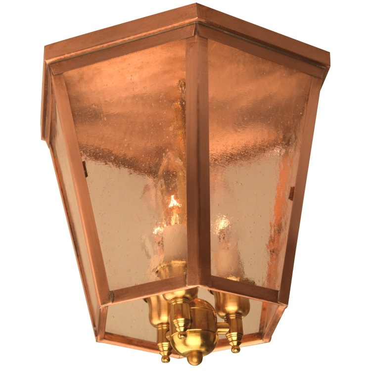 Annapolis flush mount copper colonial ceiling light annapolis colonial flush mount ceiling light aloadofball