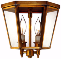Annapolis Colonial Flush Mount Copper Ceiling Light