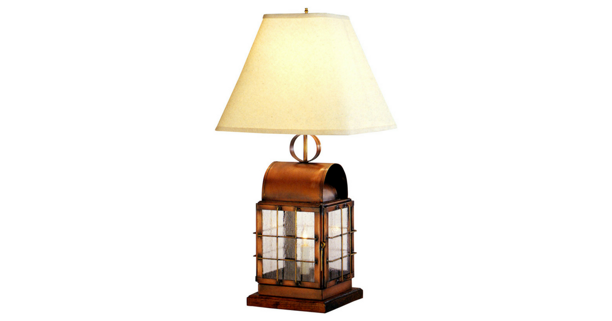 Back Bay Nautical Table Lamp Copper Lantern Made In Usa