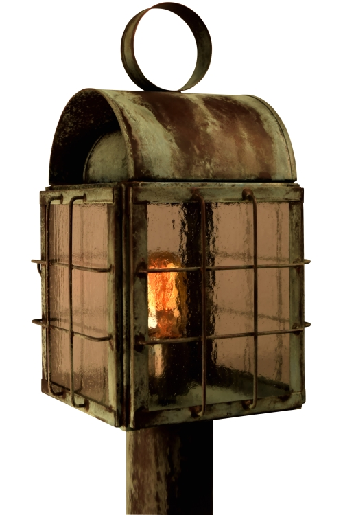 Back bay post light outdoor nautical copper lantern back bay post light nautical lantern aloadofball Image collections