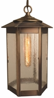 Baja Mission Style Hanging Light Copper Lantern Pendant