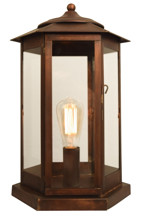 Baja mission outdoor column light pier mount copper lantern baja mission pier base column light aloadofball Image collections
