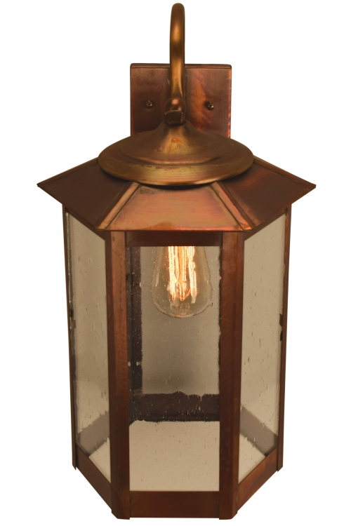 Baja Mission Style Wall Light with Bracket Copper Lantern - Picture #3