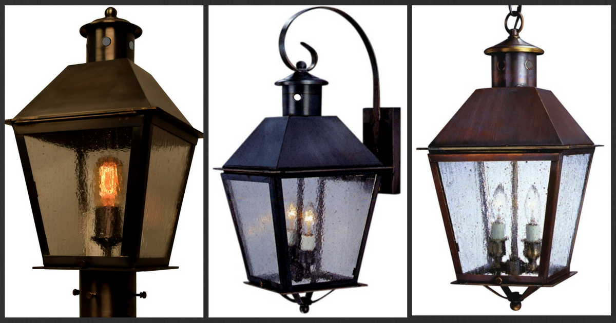 Banford copper lantern outdoor lighting collection made in usa aloadofball Choice Image