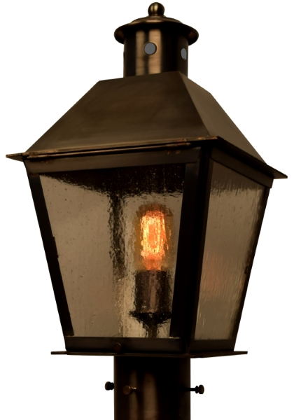 Banford post light rustic outdoor copper lantern made in usa banford post light copper lantern aloadofball Image collections