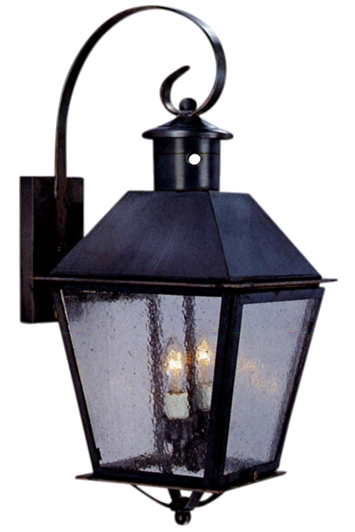 Banford Wall Mount Copper Lantern Light with Bracket