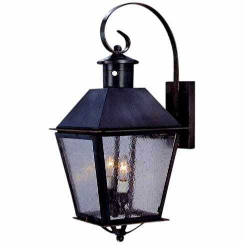 Banford Wall Mount Copper Lantern with Bracket