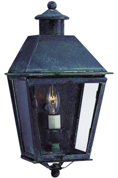 Banford colonial wall sconce copper lantern wall light for Outdoor colonial lighting