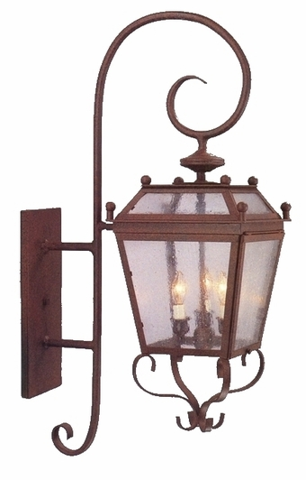 Beacon Wall Mount Copper Lantern with Bracket