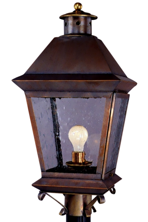Brookfield Post Light Copper Lantern Outdoor Lighting