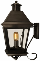 Brookfield Wall Mount Copper Lantern with Bracket