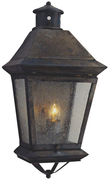Wall Copper Lantern : Brookfield Electric Copper Lantern Wall Sconce For Sale