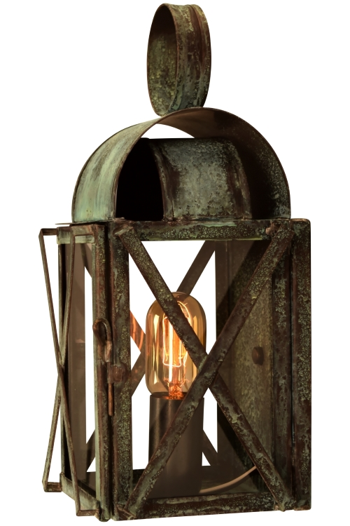 Outdoor Sconce Lights Bunker hill colonial copper lantern outdoor wall light bunker hill wall sconce indoor outdoor light workwithnaturefo