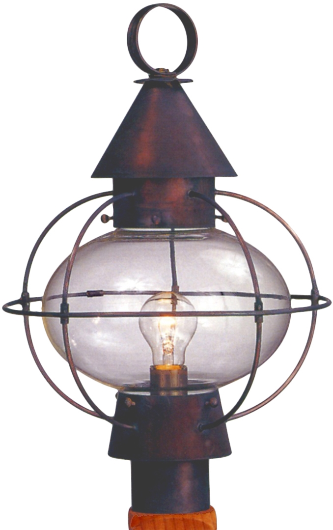 Cape cod onion copper lantern post light head for sale cape cod onion post light copper lantern aloadofball Gallery