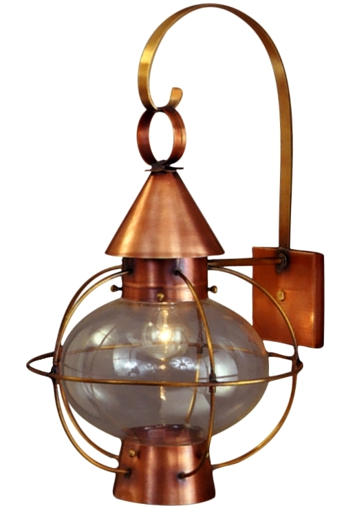 Cape cod onion lantern copper wall light nautical rustic aloadofball Choice Image