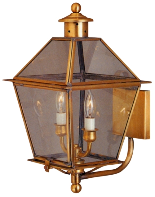 Carolina colonial copper lantern outdoor wall light made for Colonial exterior lighting