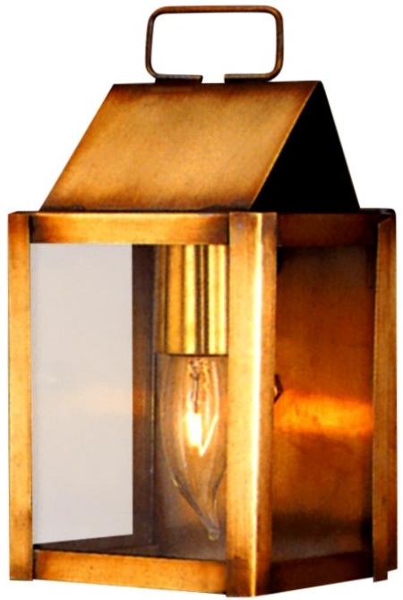 Carriage House Copper Lantern Wall Sconce Light For