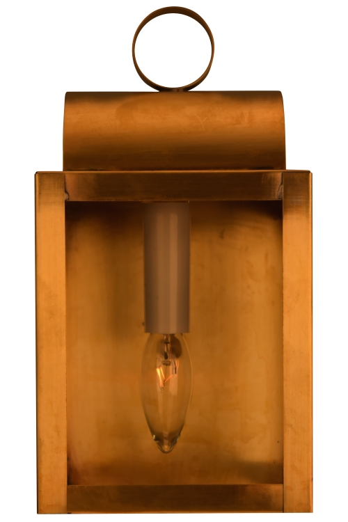 "<span class=""c6"">As Shown: <br>Size: <b>S: 9"" H x 5"" W x 5""</b> <br>Sockets: <b>1-60W Medium BAse</b> <br>Finish: <b>Antique Brass</b> <br>Glass: <b>Clear</b></span>"