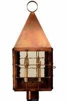 Colonial Williamsburg Post Mount Copper Lantern