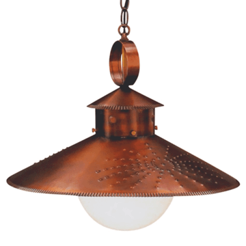 Country Kitchen Pendant Copper Barn Light