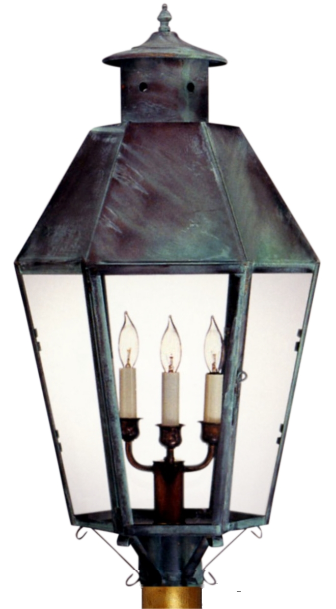 Franklin post light head outdoor copper lantern franklin post light copper lantern aloadofball Image collections