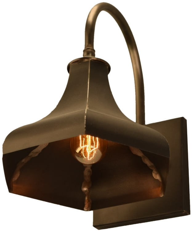 Rustic Copper Wall Lights : Gatsby Wall Light Copper Rustic Outdoor Barn Lighting