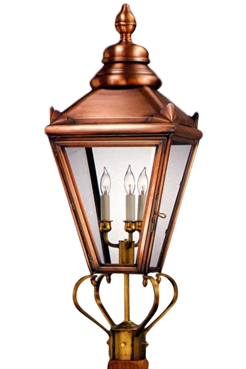 Hampton Post Light Copper Lantern