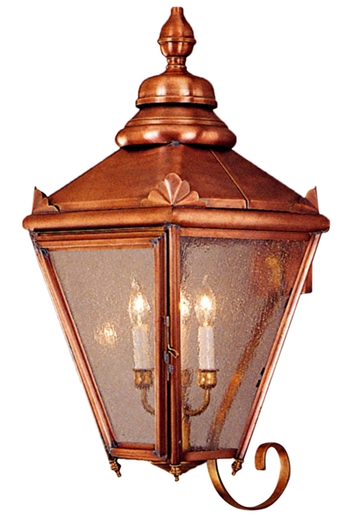 Hampton Copper Lantern Wall Light with Bracket Outdoor