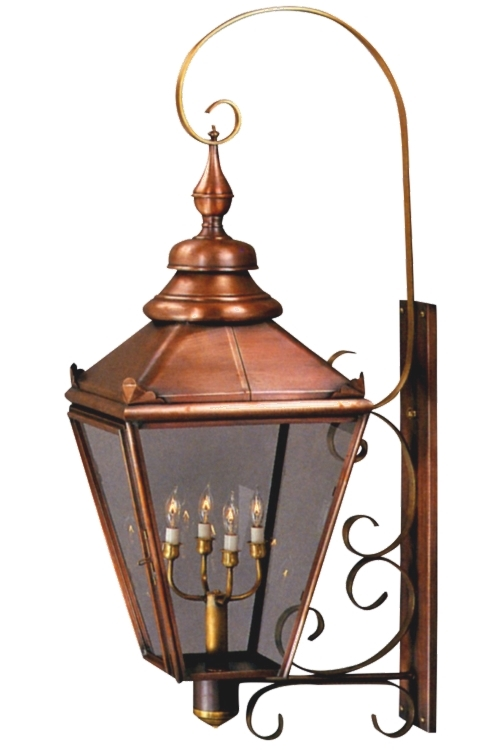 "As shown:<br> Size: <b>X-Large</b><br> Dimensions: <b>51"" H x 16.5"" W x 21.5"" D</b><br> Sockets: <b>4-60W Max Candelabra</b><br> Finish: <b>Antique Copper</b><br> Glass: <b>Clear</b><br>"