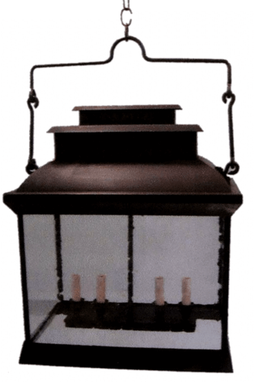 Hudson Hanging Copper Lantern