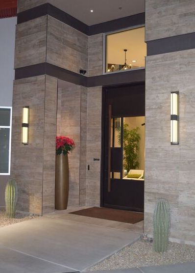 Ideations LED Wall Sconce Outdoor Lighting Commercial Installation