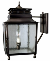 Jackson Wall Light with Bracket Copper Lantern