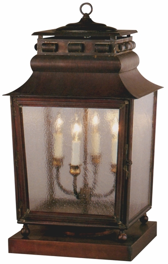 Jackson Pier-Base Column Mount Copper Lantern