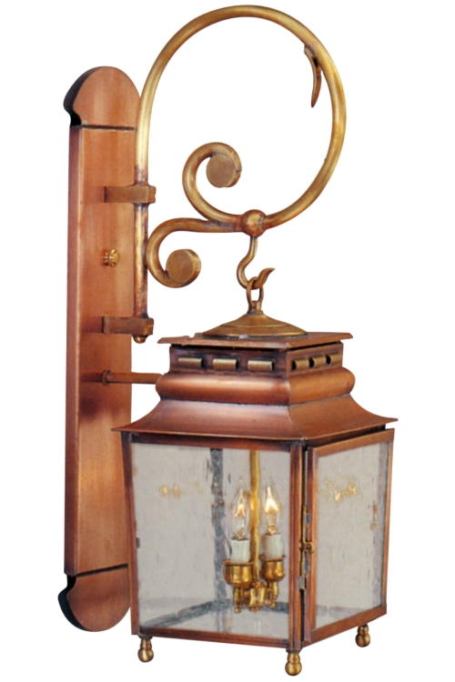 Jackson Wall Lantern with Bracket & Scroll