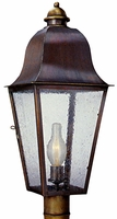 Keene Post Light Outdoor Copper Lantern