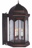Landon Jr. Wall Light with Bracket Copper Lantern