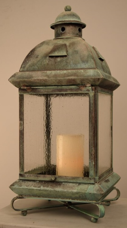 Logan Solid Brass Candle Lantern