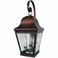 Miramonte Wall Light Copper Lantern with Bracket