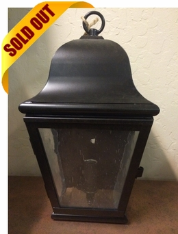 Miramonte Outdoor Wall Sconce Brass Lantern - Small [CLOSE OUT]