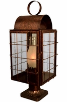 Newport Harbor Pier-Mount Column Light Copper Lantern