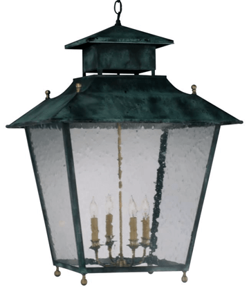 Normandie Hanging Lantern makes a dramatic statement indoor or outdoors