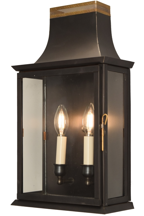 Patrice Colonial Electric Copper Lantern Wall Sconce