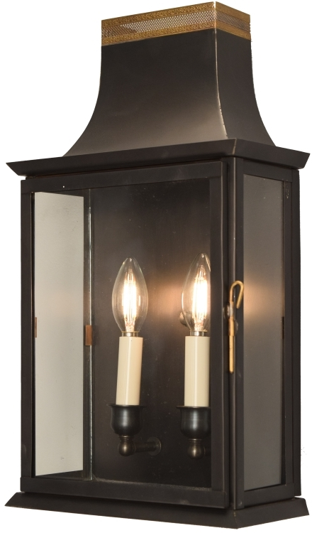 Colonial Electric Wall Sconces : Patrice Colonial Electric Copper Lantern Wall Sconce