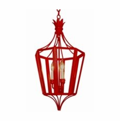 Pomegranate Pendant Hanging Iron Lantern