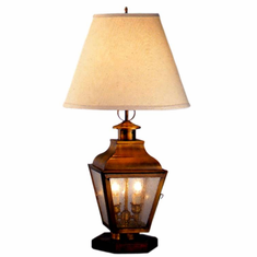 Portland Copper Lantern Table Lamp