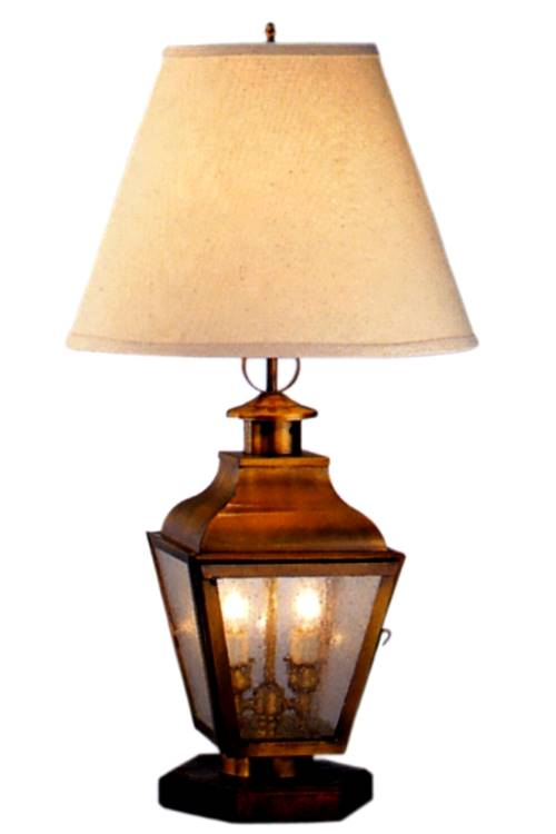 Portland Colonial Copper Lantern Table Lamp