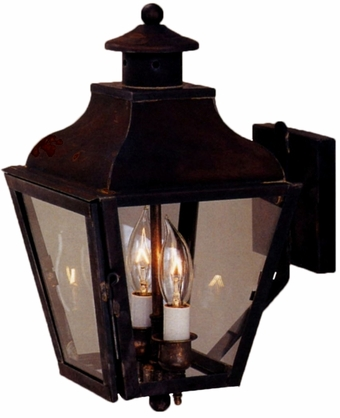 Portland Wall Light with Bracket Outdoor Copper Lantern
