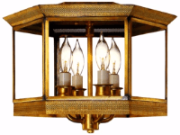 Princeton Copper Ceiling Light Flush Mount