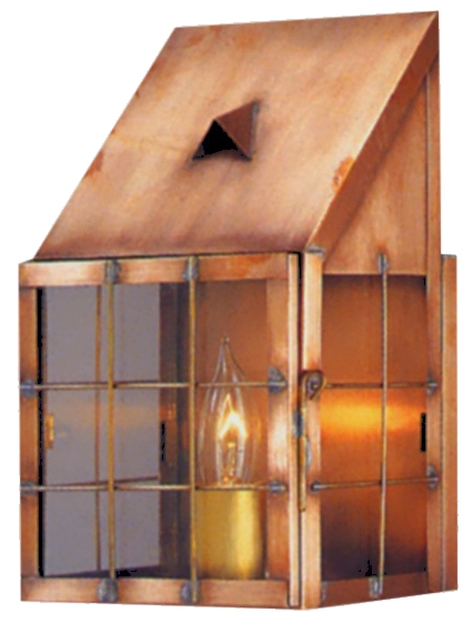 Handmade copper lanterns outdoor lighting made in usa under 300 saltbox copper lantern wall sconce aloadofball Images