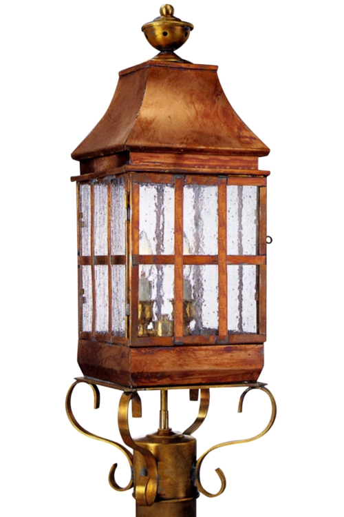 Weston handmade copper lantern post light head for sale aloadofball Gallery